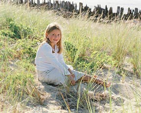 child portrait with beach setting Cape Cod
