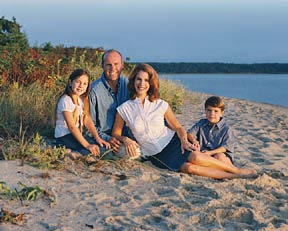 Cape Cod family portrait beach setting