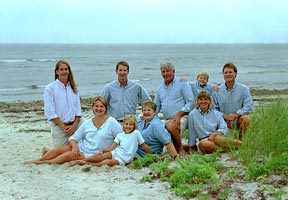Cape Cod seaside family portrait