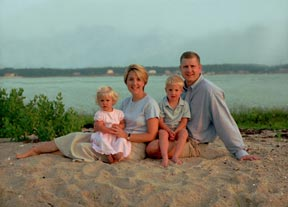 Cape Cod family photo at the beach