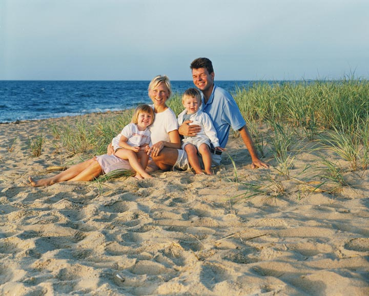 Cape Cod beach family portrait