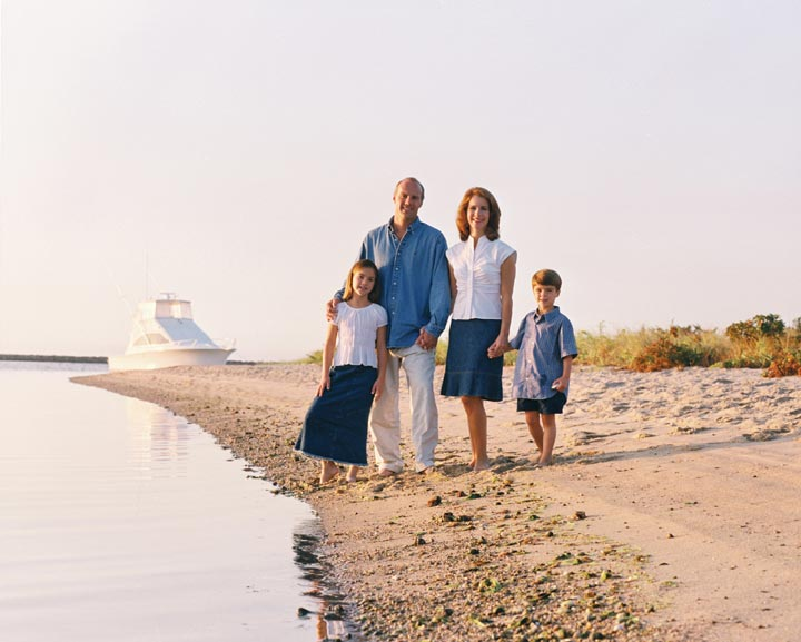 Cape Cod family portrait at the sea shore