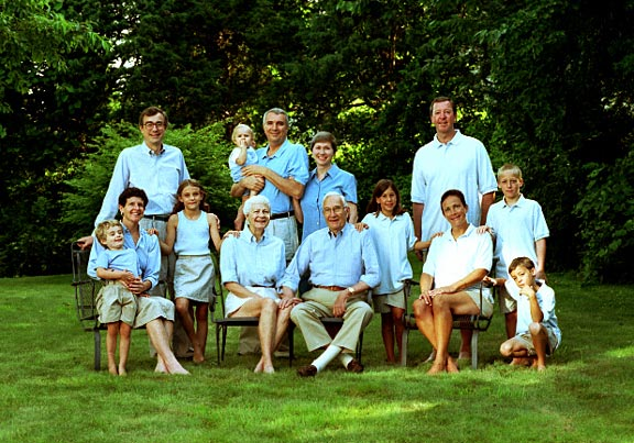 Cape Cod family portrait, group photo in outdoor setting